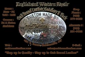 Oakbrad Leather business card